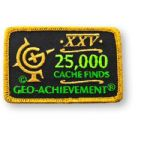 25000 Finds Geo-Achievement Patch